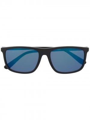 Солнцезащитные очки в прямоугольной оправе Ralph Lauren Collection. Цвет: серый