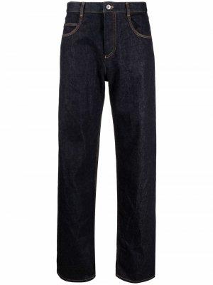 Прямые джинсы с завышенной талией Bottega Veneta. Цвет: синий