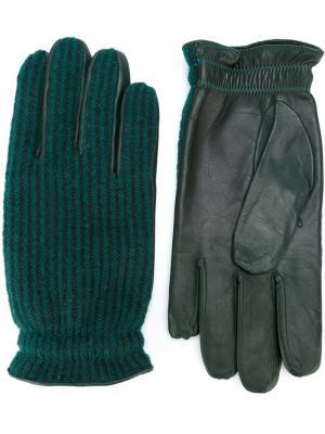 Перчатки Orciani. Цвет: зелёный