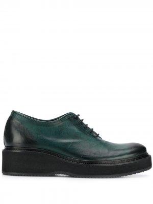 Оксфорды на шнуровке Cotélac. Цвет: зеленый