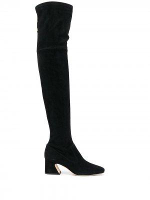 Ботфорты на каблуке Alberta Ferretti. Цвет: черный