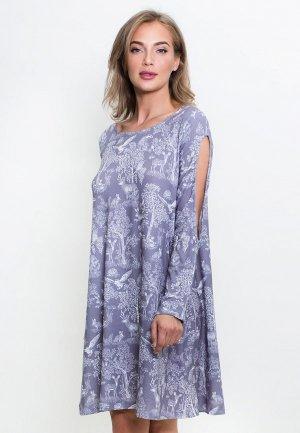 Платье домашнее Catherine's. Цвет: серый