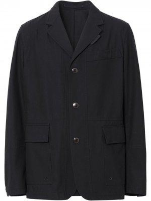 Однобортный пиджак Burberry. Цвет: синий