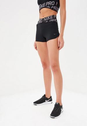 Шорты спортивные Nike PRO WOMENS 3 SHORTS. Цвет: черный