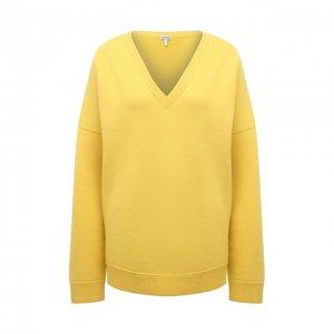 Кашемировый пуловер Loewe. Цвет: жёлтый