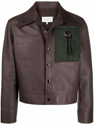 Куртка на кнопках Maison Margiela. Цвет: коричневый