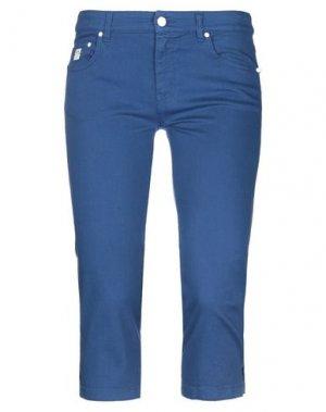 Джинсовые брюки-капри REDValentino. Цвет: грифельно-синий