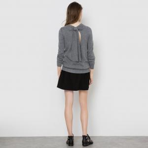 Пуловер с бантом сзади LA REDOUTE COLLECTIONS. Цвет: серый