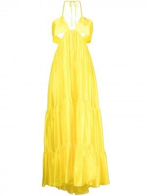 Платье с асимметричным подолом Alexandre Vauthier. Цвет: желтый