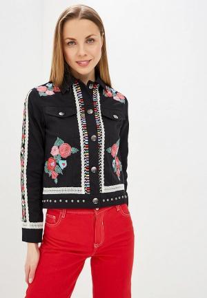 Куртка джинсовая Desigual. Цвет: черный
