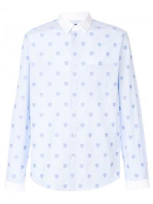 Рубашка с тиграми Gucci. Цвет: синий