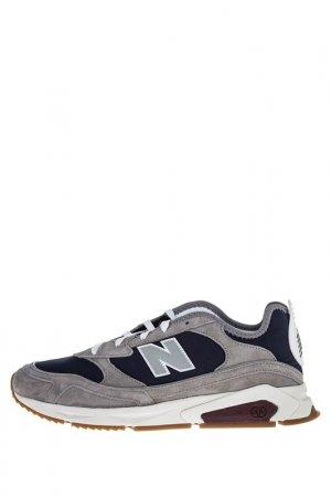 Кроссовки New Balance. Цвет: серый, синий