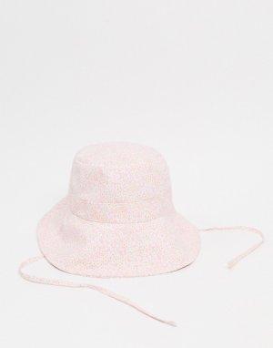 Розовая панама из переработанного хлопка -Розовый Monki