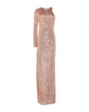 Длинное платье MANGANO. Цвет: медный