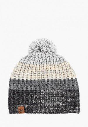 Шапка Buff Knitted&Polar Hat Alina. Цвет: серый
