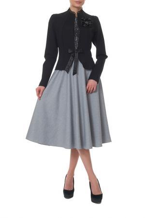Жакет с платьем Mannon. Цвет: черный, серый