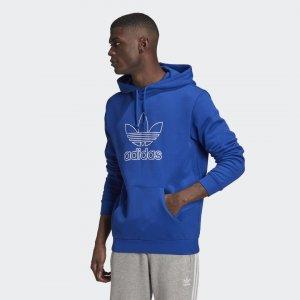 Худи Trefoil Logo Outline Originals adidas. Цвет: синий