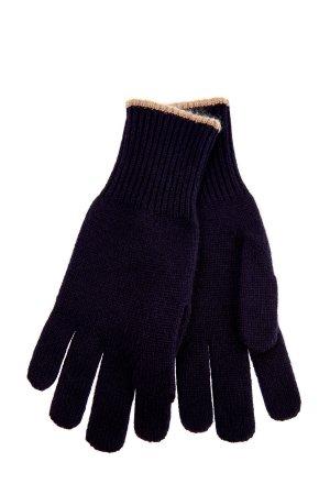 Кашемировые перчатки в технике эластичной вязки BRUNELLO CUCINELLI. Цвет: синий