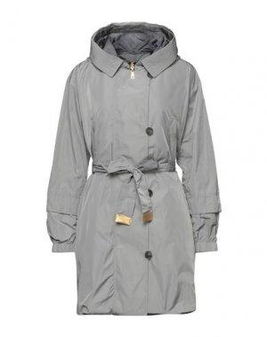 Легкое пальто ADHOC. Цвет: голубиный серый