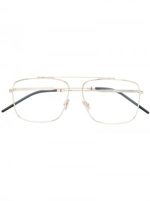 Очки в оправе авиатор Dior Eyewear. Цвет: золотистый