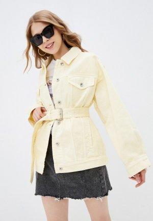 Куртка джинсовая Miss Sixty. Цвет: желтый
