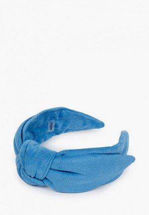 Ободок Shovv С бантом. Цвет: голубой
