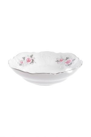 Набор салатников 19 см Bohemia. Цвет: белый, розовый, платиновый