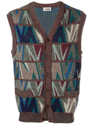 Вязаная жилетка Missoni Vintage. Цвет: синий
