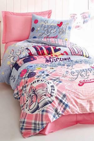 Комплект детского постельного белья Cotton box. Цвет: pink, blue, white