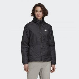 Утепленная куртка BSC 3-Stripes Winter Performance adidas. Цвет: черный