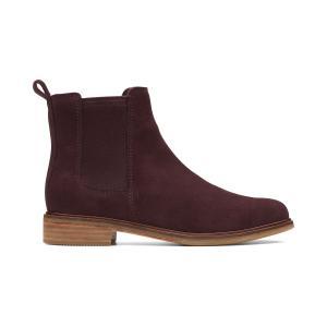 Ботинки-челси из замшевой кожи Clarkdale Arlo CLARKS. Цвет: красный/ бордовый