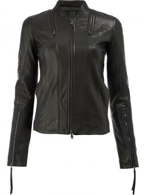 Куртка на молнии Ilaria Nistri. Цвет: чёрный