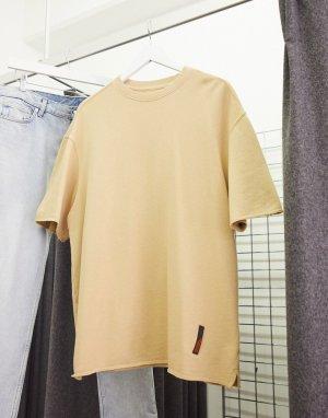 Светло-бежевая футболка -Светло-бежевый Bershka