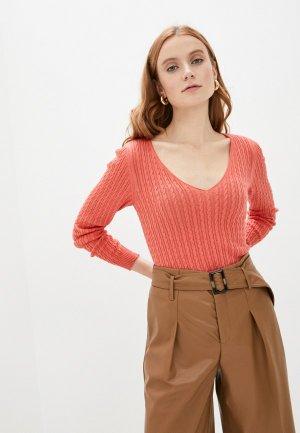 Пуловер Happychoice. Цвет: коралловый