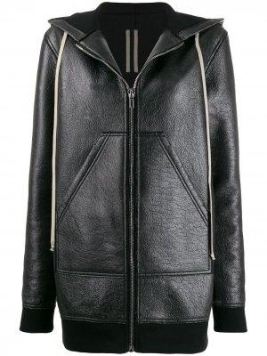 Длинная куртка-бомбер Rick Owens DRKSHDW. Цвет: черный