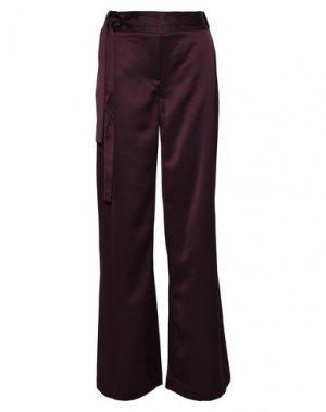 Повседневные брюки HALSTON. Цвет: красно-коричневый