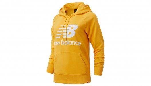 Толстовки ESSENTIALS PULLOVER HOODIE New Balance. Цвет: желтый