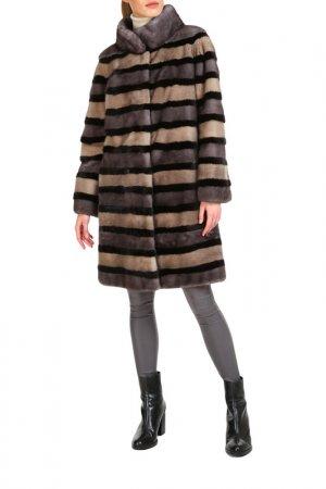 Fur coat Manakas Frankfurt. Цвет: brown