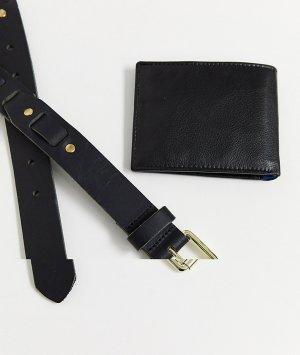 Набор из ремня и бумажника черного цвета -Черный Topman