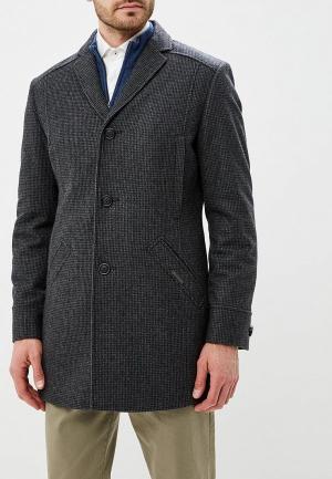 Пальто Absolutex. Цвет: серый