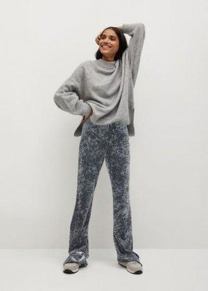 Расклешенные брюки бархат - Marta Mango. Цвет: серебро