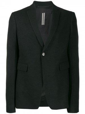 Однобортный костюмный пиджак Rick Owens. Цвет: черный