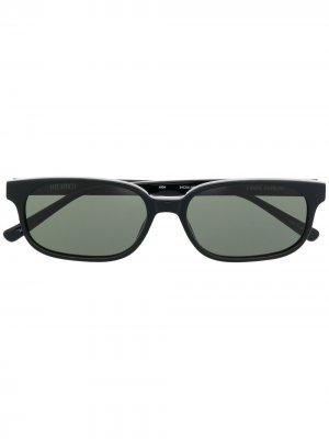 Солнцезащитные очки в квадратной оправе The Attico. Цвет: черный