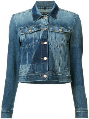 Джинсовая куртка с панельным дизайном J Brand. Цвет: синий