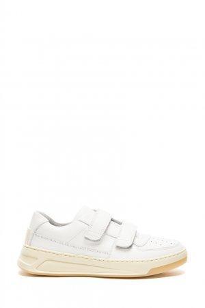 Белые кроссовки на липучках Steffey Acne Studios. Цвет: белый
