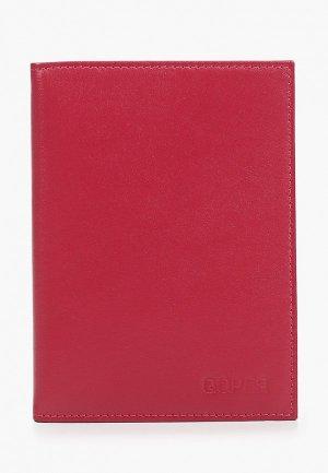 Обложка для документов Qoper. Цвет: бордовый