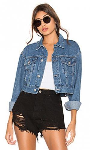 Укороченная джинсовая куртка tyler superdown. Цвет: синий