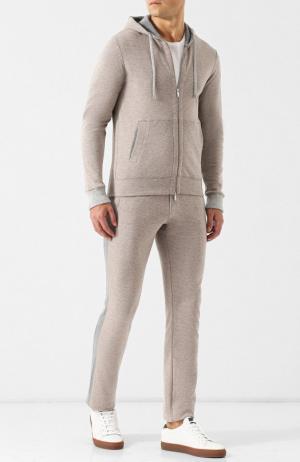 Спортивный костюм из смеси хлопка и кашемира Capobianco. Цвет: бежевый