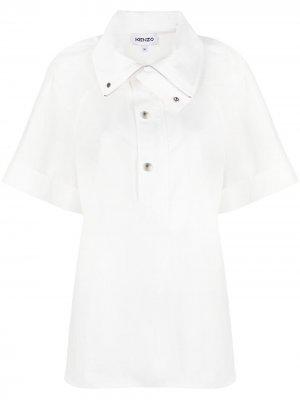 Рубашка на кнопках Kenzo. Цвет: белый