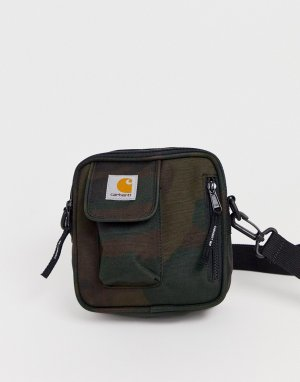 Небольшая камуфляжная сумка для авиапутешествий Essentials-Зеленый Carhartt WIP